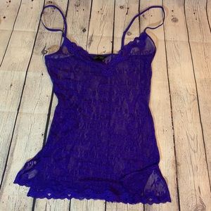 🔹New🔹 Victoria Secret See-through Violet Nighty
